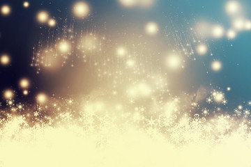 Abstract Christmas background with fireworks