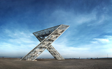 Saarland – Saarpolygon Panorama – Denkmal für den Bergbau Halde Duhamel Ensdorf