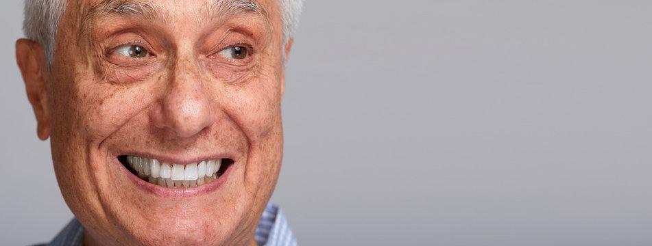Smiling senior man.