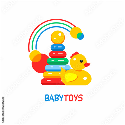 Toy Store Logo : Quot toys kids vector sign the logo for toy store