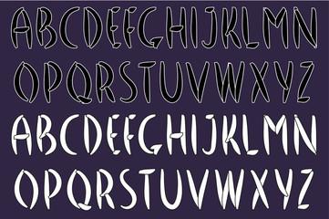 English alphabet. Handwritten font. Мodern calligraphy. Vector illustration.