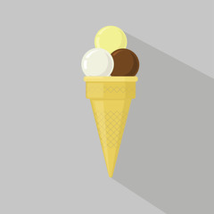 Ice cream collection, vector illustration.