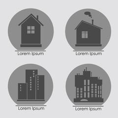 Building Icons Set. Vector illustration.