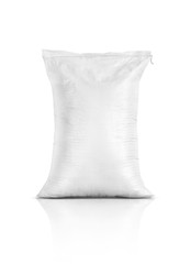 rice sack, agriculture product isolated on white background