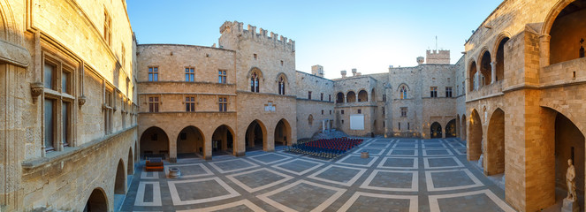 Panorama Palace of the Grand Master the Knights Rhodes is medieval castle in the city .