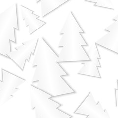 white paper trees - seamless background