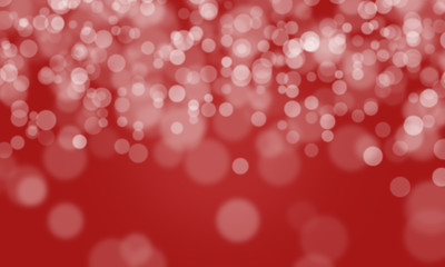 Abstract Background Defocused Spots Light Colors White Red Bokeh Banner Long Web Design