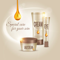 Skin Care Cosmetic Cream Concept