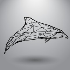 Dolphin from triangles and lines