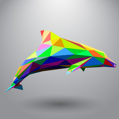 Dolphin from triangles