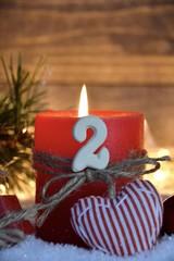 Grußkarte - zweiter Advent - Stimmungsvolle Weihnachtszeit