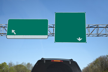 Blank Highway Exit Signs