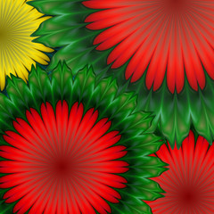Graphic background with flowers