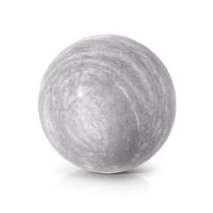 Cement ball 3D illustration on white background