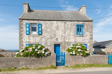 Haus auf der Insel Ouessant, Bretagne, Frankreich Wall mural