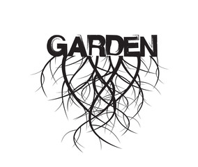 Garden and Roots. Vector Illustration.