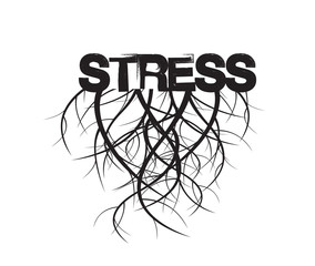 Stress and Roots. Vector Illustration.