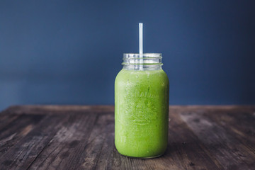 bright and colourful healthy green smoothies