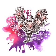 illustration mechanical cock