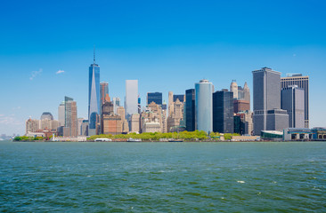 New York City, USA, Manhattan skyline, View from Staten Island F