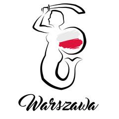 Warszawa - logo - Syrenka Warszawska