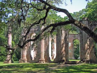 Ruins of Sheldon Church in South Carolina