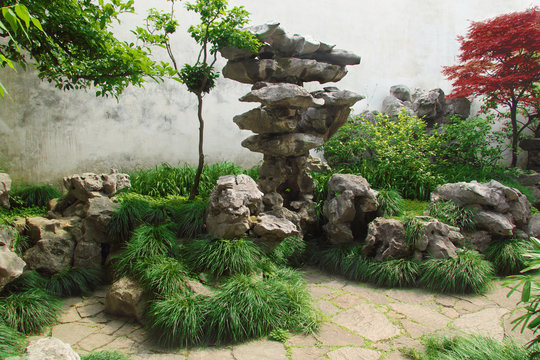 Traditional chinese stone garden