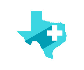 Texas Medicine Plus Symbol Logo Design