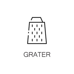 Grater flat icon or logo for web design.