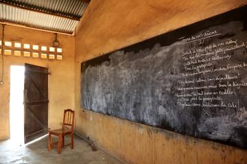 Salle de classe. Ecole primaire d'Adjallé. Lomé. Togo.