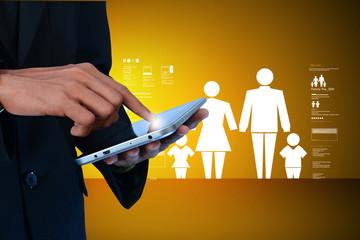 Family insurance concept