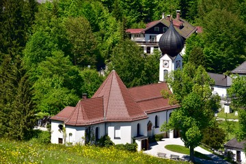 Kirche in Grainau, Oberbayern