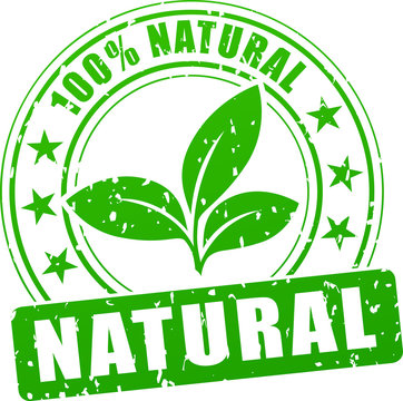 natural green stamp
