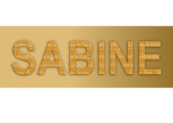 Vorname Sabine, Grafik
