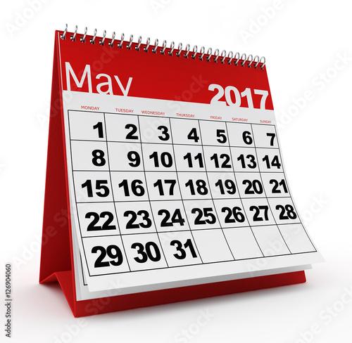 May 2017 Monthly Desk Calendar