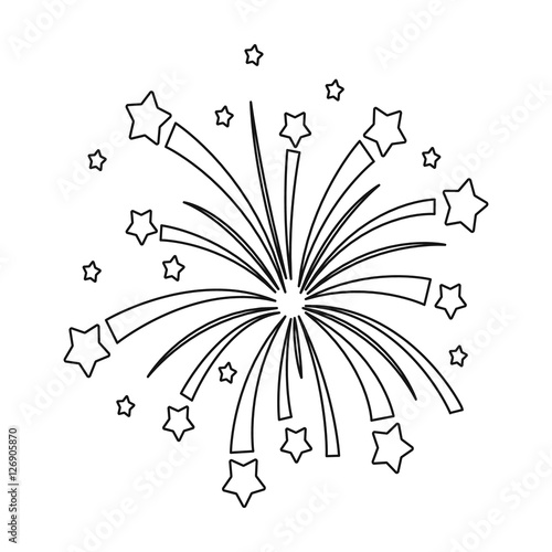 fireworks coloring pages template printable