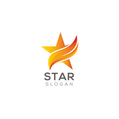 Star logo design vector