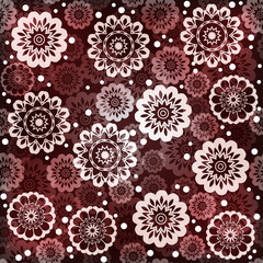 Geometric seamless floral pattern