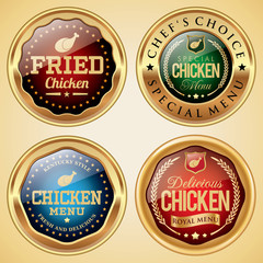 Fried Chicken Food badges