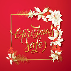 Christmas sale. Design template .Vector