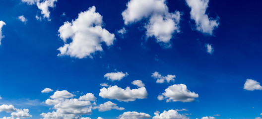 Blue sky with clouds, panorama