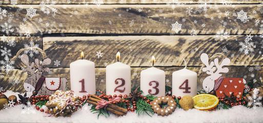 dritter Advent Kerzenlicht