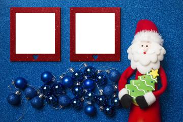 Photo frames Christmas card
