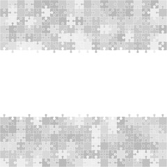 400 Grey Puzzles. Frame. Vector Illustration.