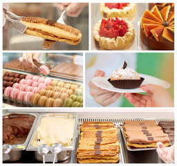 Pastry shop collage