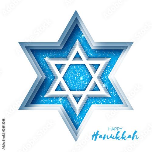 quotorigami star of david happy hanukkahquot stockfotos und