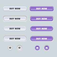 Set of colored web buttons. Web elements vector button set.