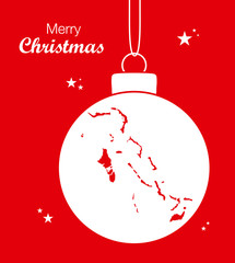 Merry Christmas Map Bahamas