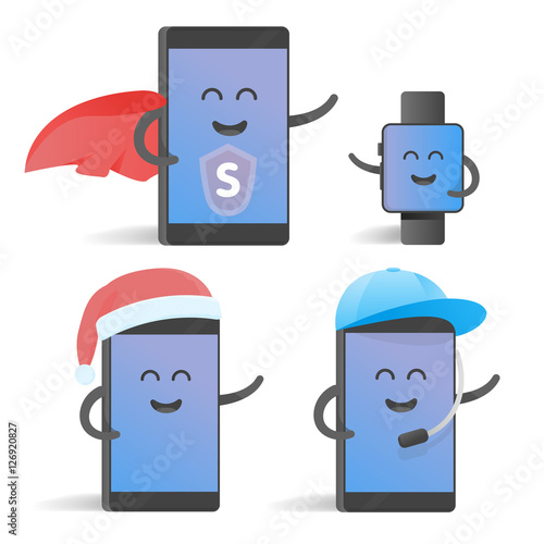 Cartoonsmart Character Design : Quot happy cartoon smart phone character set great for your