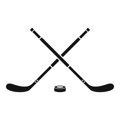 Hockey icon. Simple illustration of hockey vector icon for web